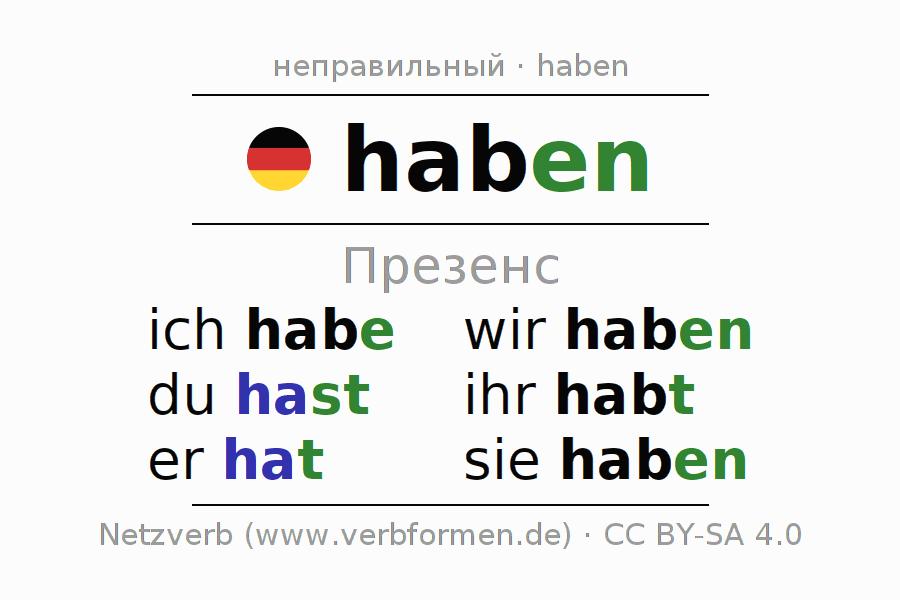 Er habt hast ihr hat habe ich du wir haben haben: German