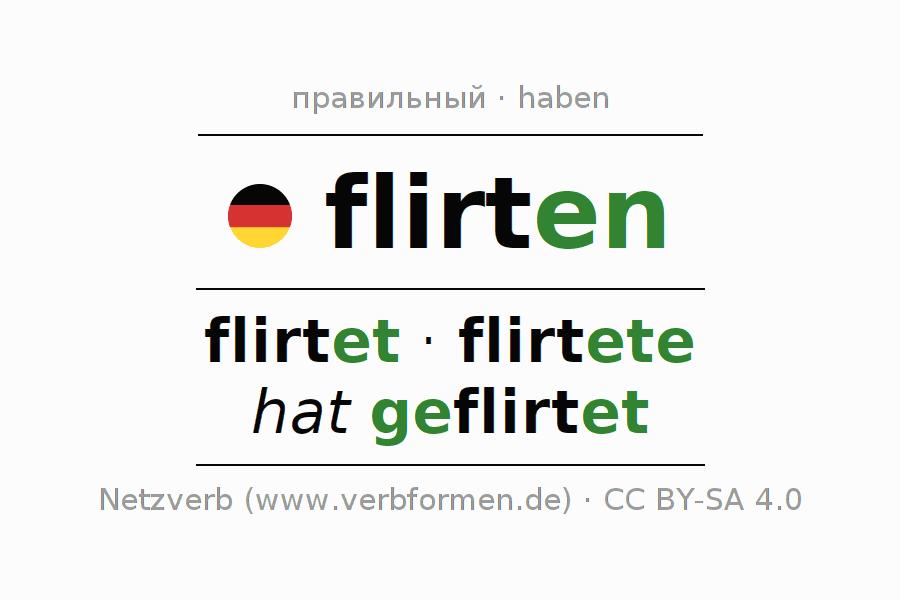 flirten partizip 2