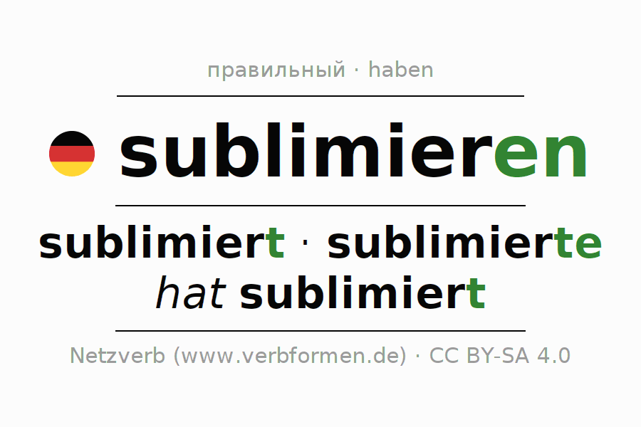 Спряжение глагола sublimieren (hat)